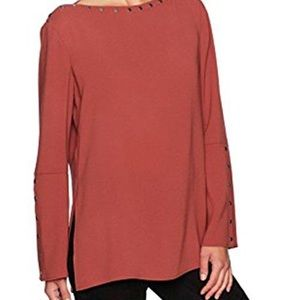 Bcbg womens Laycie Woven Off the Shoulder Snap